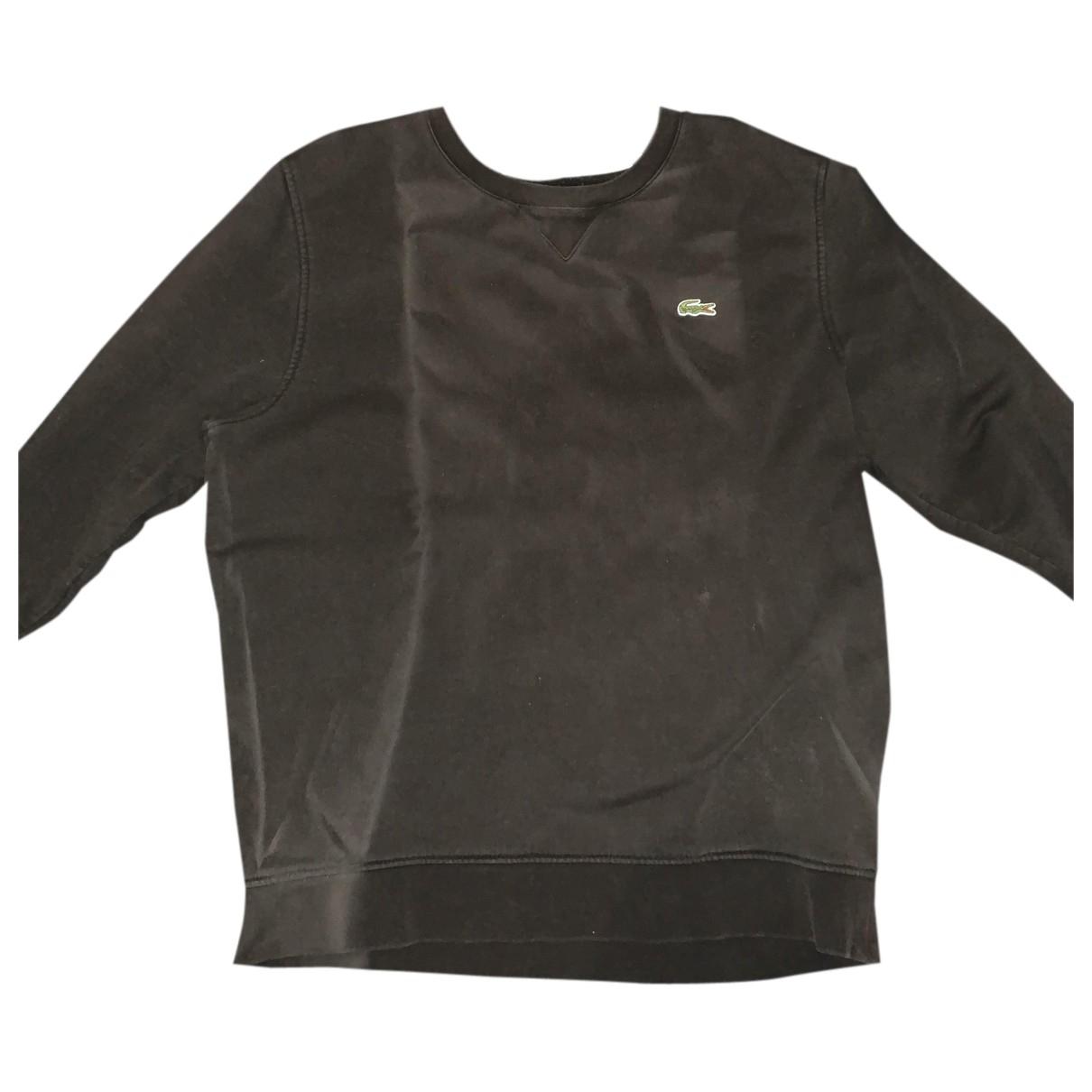 Lacoste \N Pullover.Westen.Sweatshirts  in  Schwarz Baumwolle