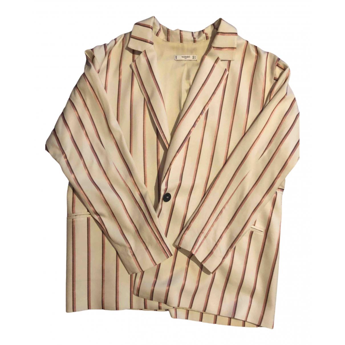 Mango N Ecru Cotton jacket for Women M International