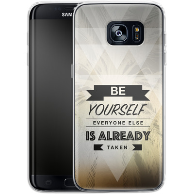 Samsung Galaxy S7 Edge Silikon Handyhuelle - Be Yourself von Statements