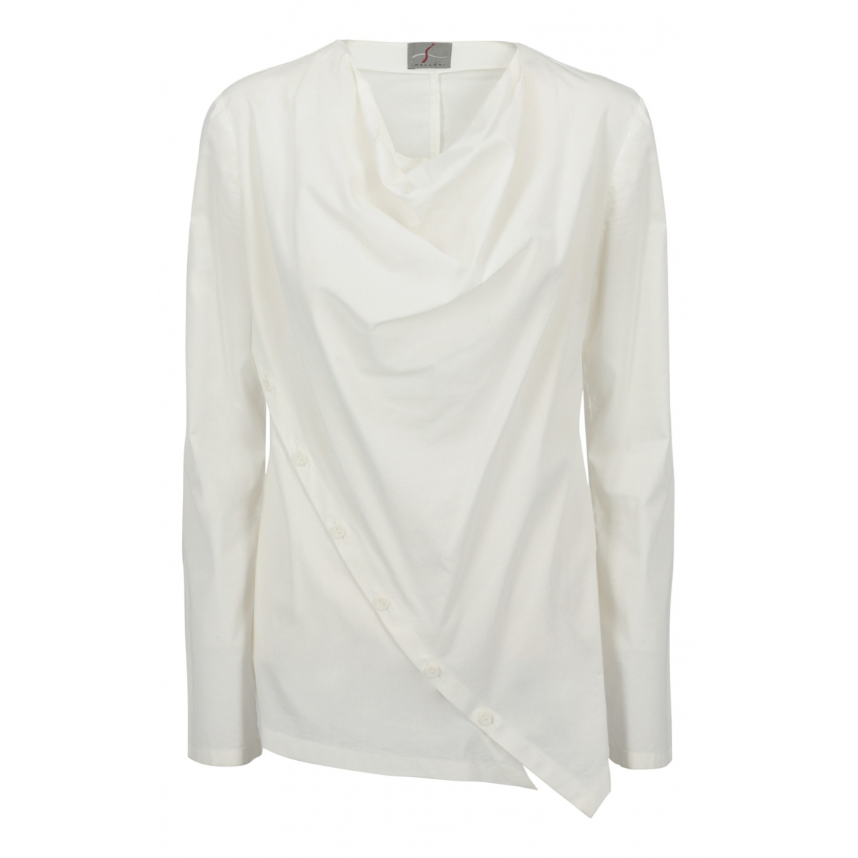 Non Signé / Unsigned N White Cotton  top for Women 46 IT