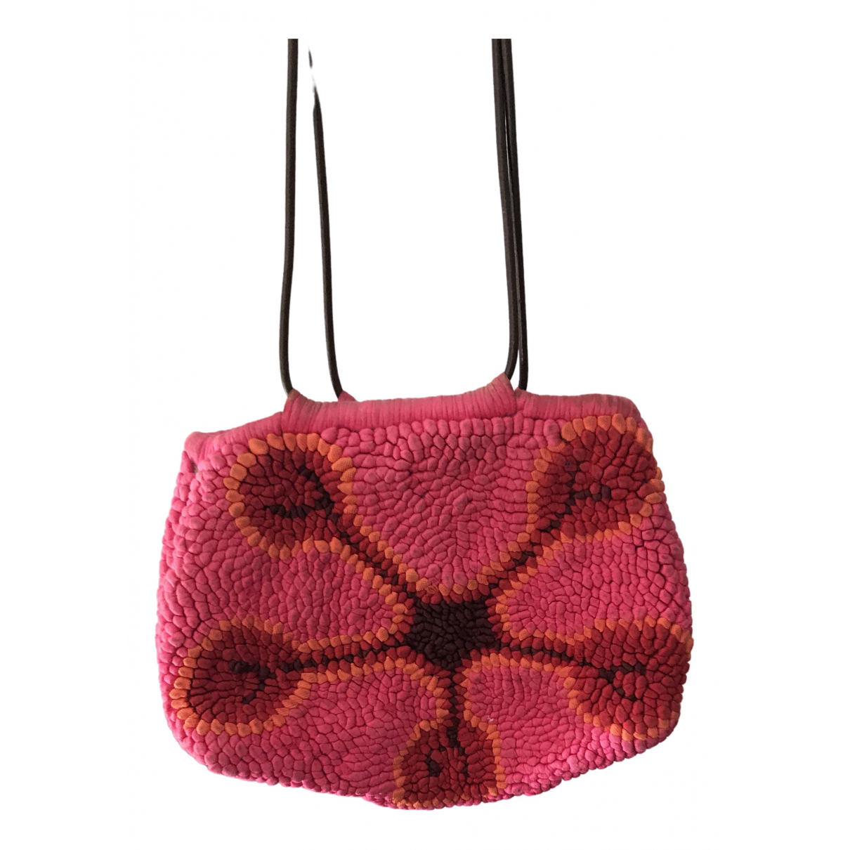 Non Signé / Unsigned Hippie Chic Pink Cotton handbag for Women \N