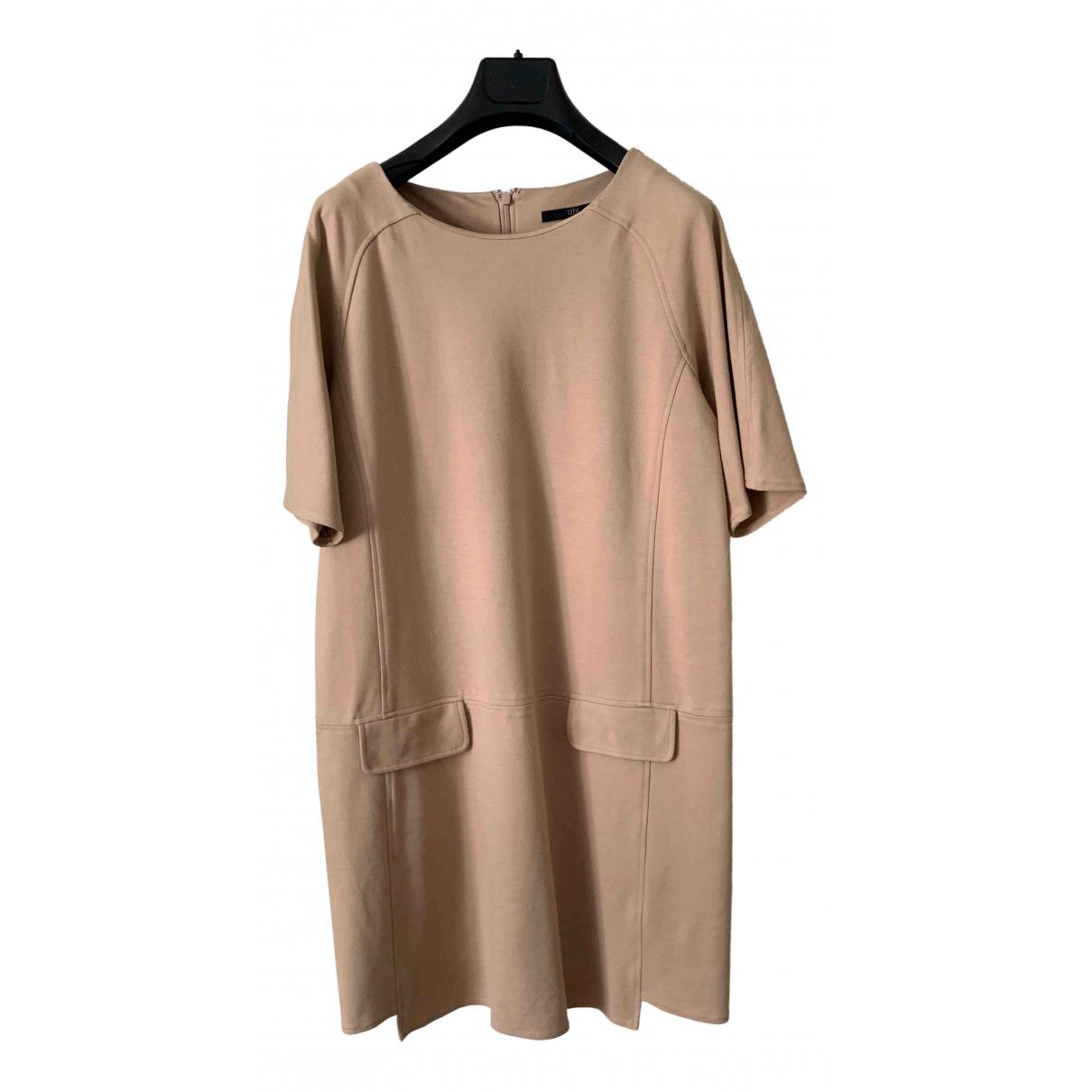 Tibi \N Kleid in  Beige Viskose