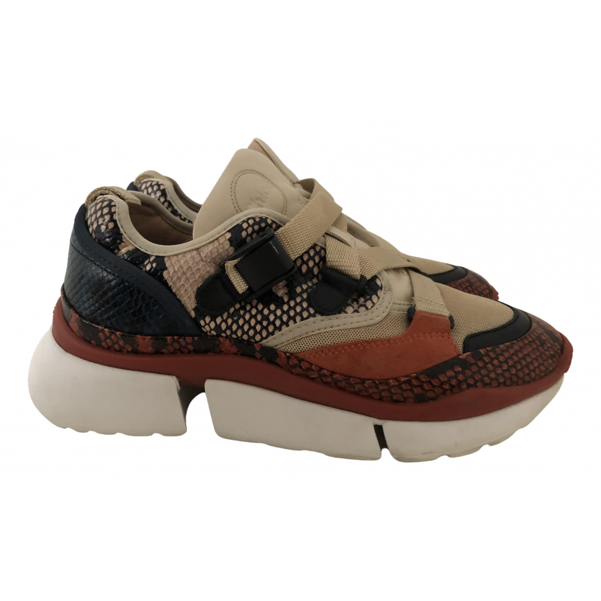 Chloé Sonnie Multicolour Water snake Trainers for Women 37 EU