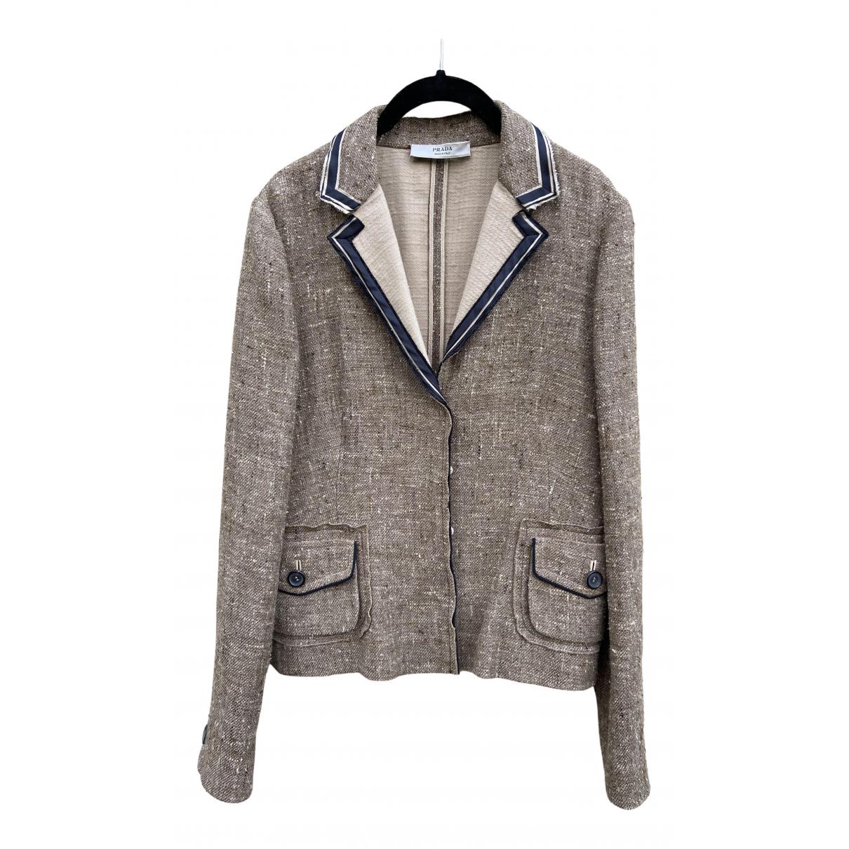 Prada \N Brown Wool jacket for Women 46 IT