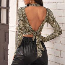 Camisetas Espalda al aire Leopardo Sexy