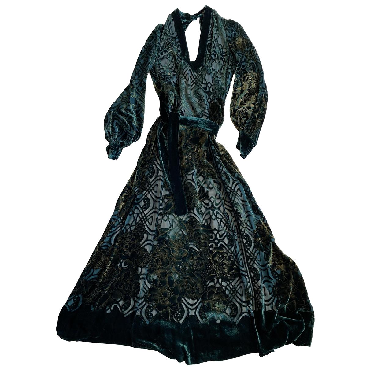 Roberto Cavalli \N Kleid in  Gruen Seide