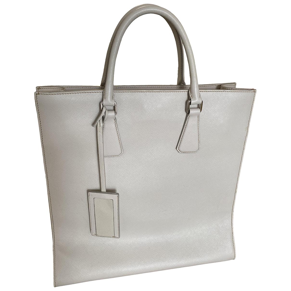 Prada N Ecru Leather bag for Men N