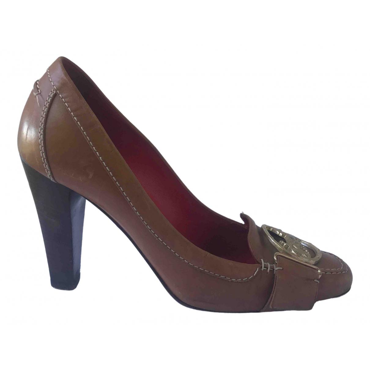 Celine \N Camel Leather Heels for Women 38 EU