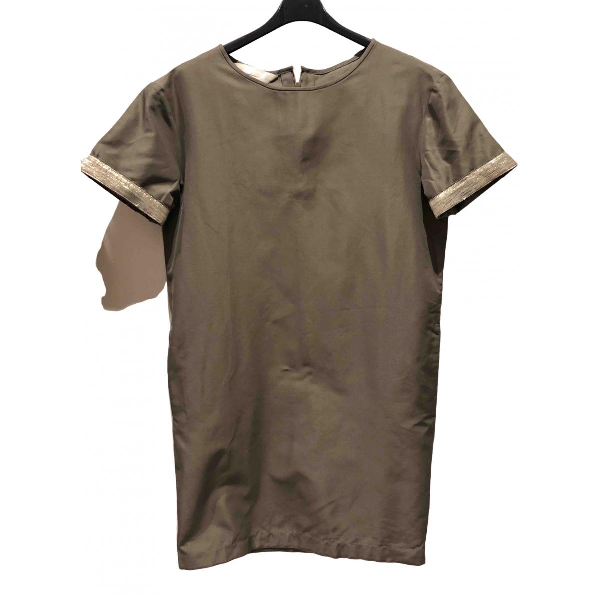 Max Mara 's \N Khaki Cotton dress for Women S International
