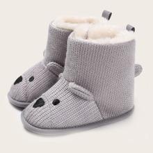 Baby Boy Cartoon Fur Lined Boots