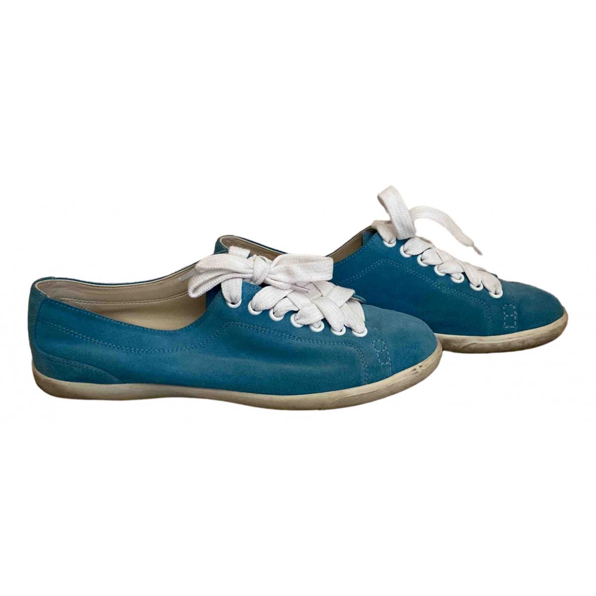 Bottega Veneta \N Turquoise Suede Trainers for Women 38 IT