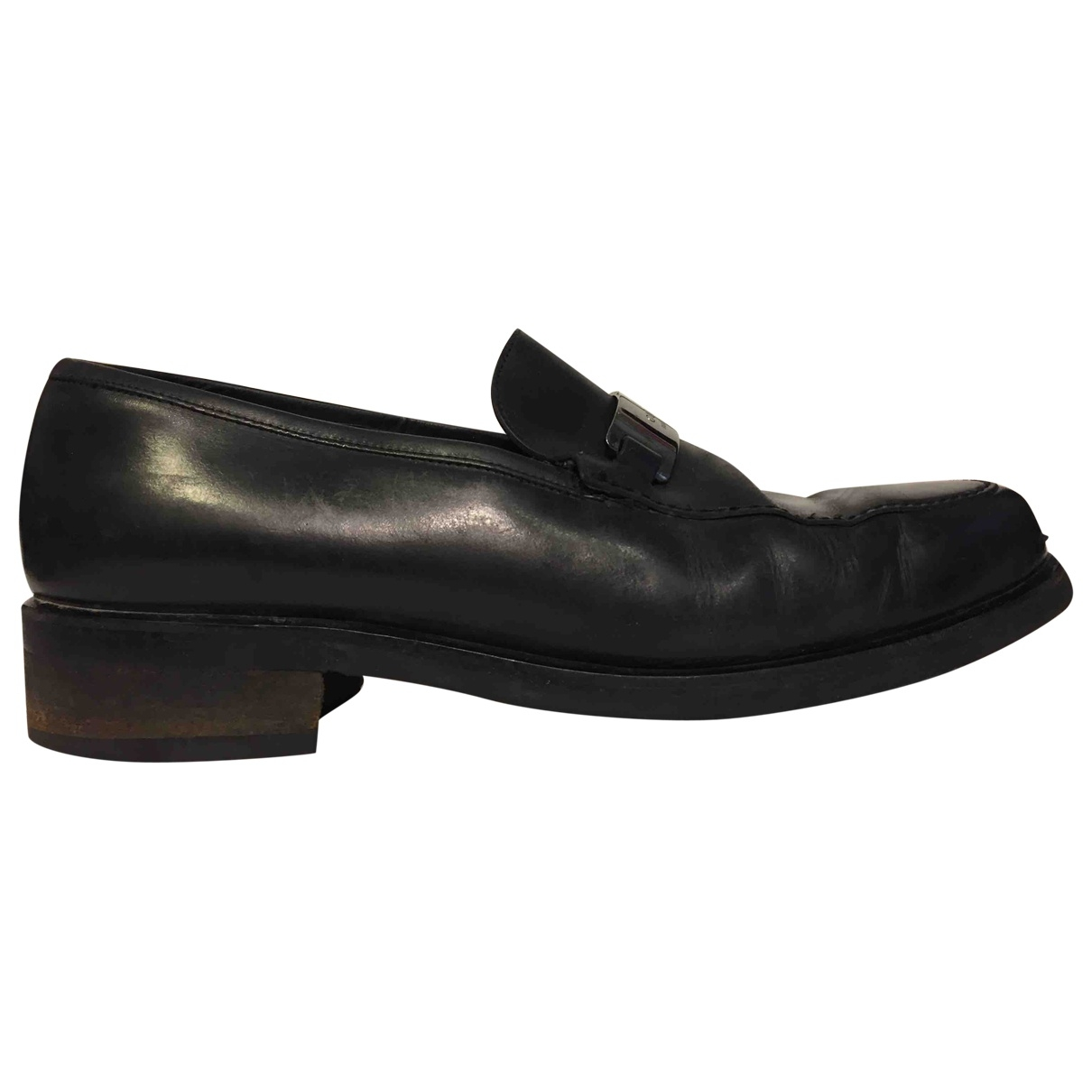 Gucci \N Black Leather Flats for Men 41 IT