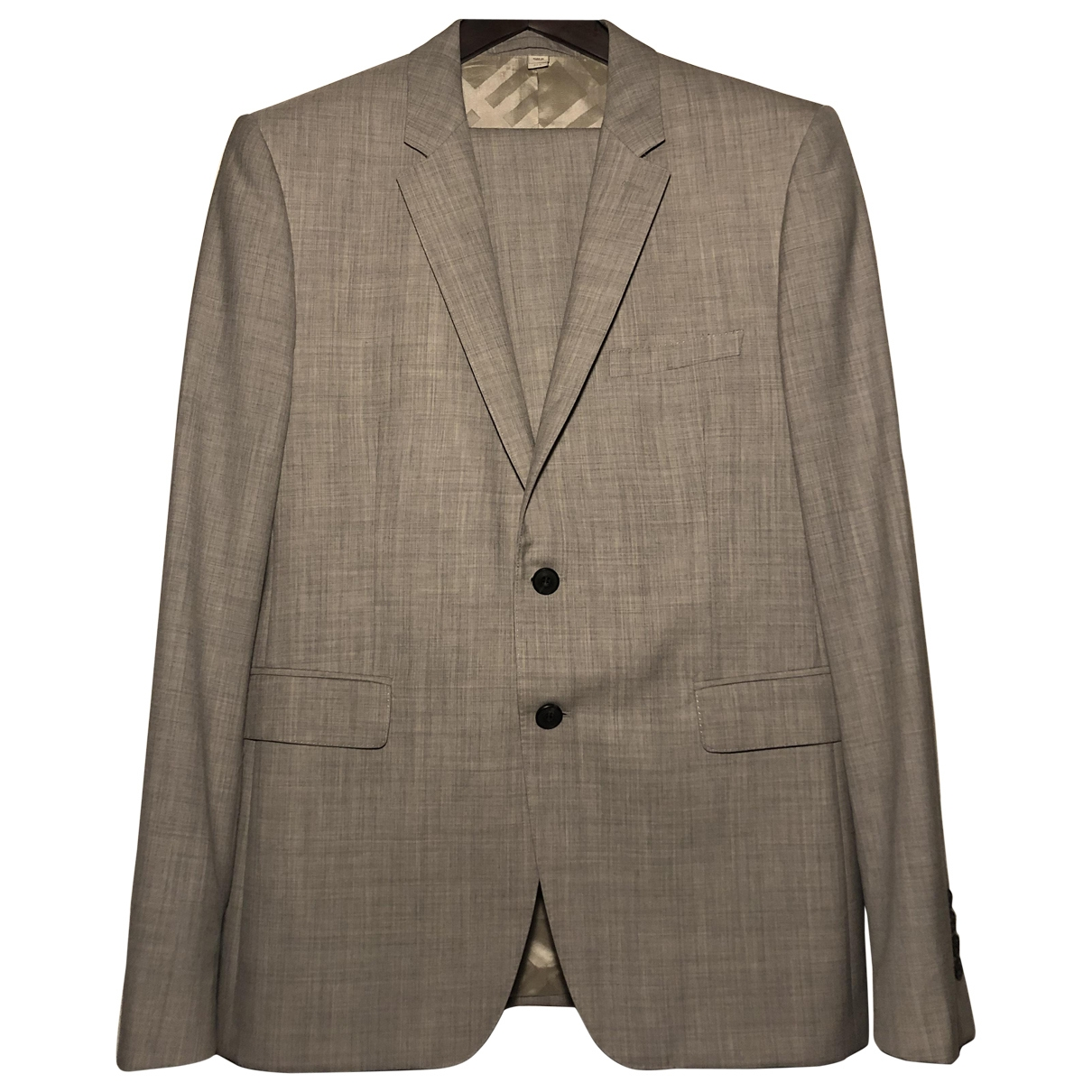Burberry \N Grey Wool Suits for Men 52 IT