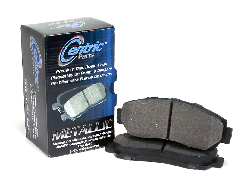 Centric Premium Semi Metallic Brake Pads with Shims Rear Chevrolet Corvette 1989
