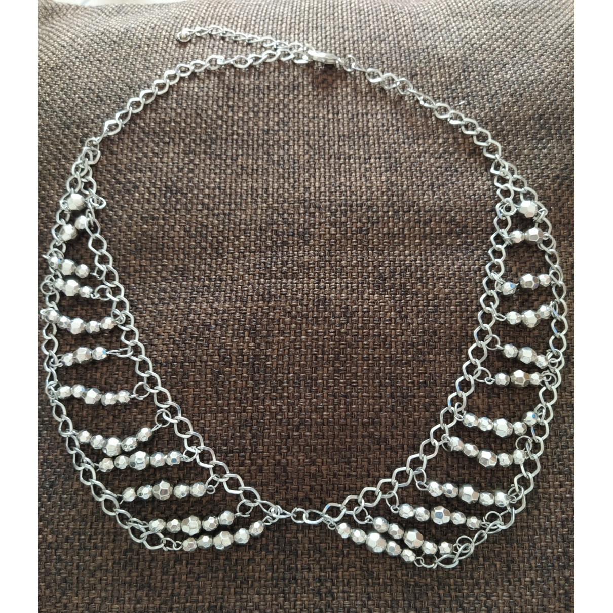 Non Signe / Unsigned \N Kette in  Silber Metall