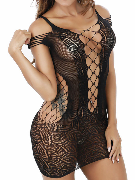 Yoins Deep v neck Hollow Design Sleeveless Sexy Lingerie