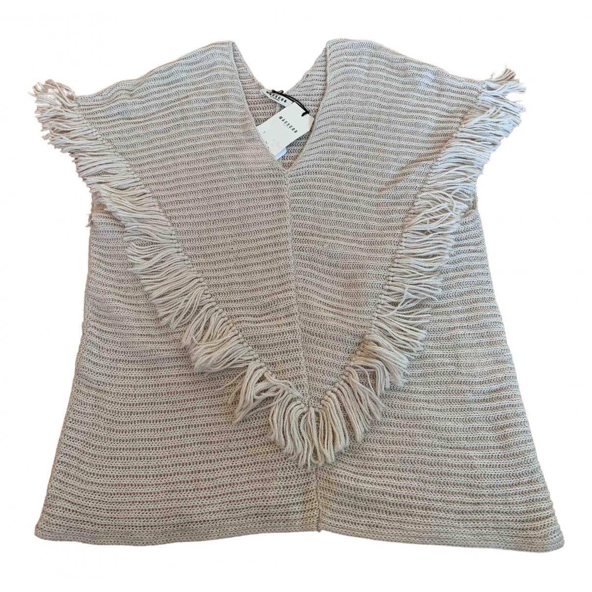 Masscob - Pull   pour femme en laine - beige