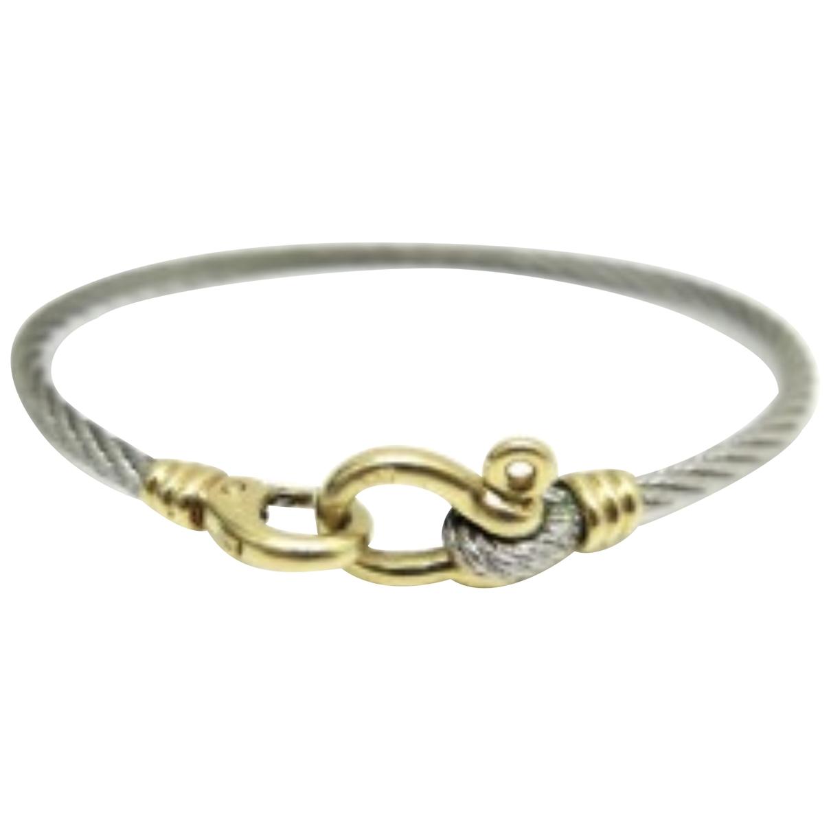 Fred - Bracelet   pour femme en or et acier - argente