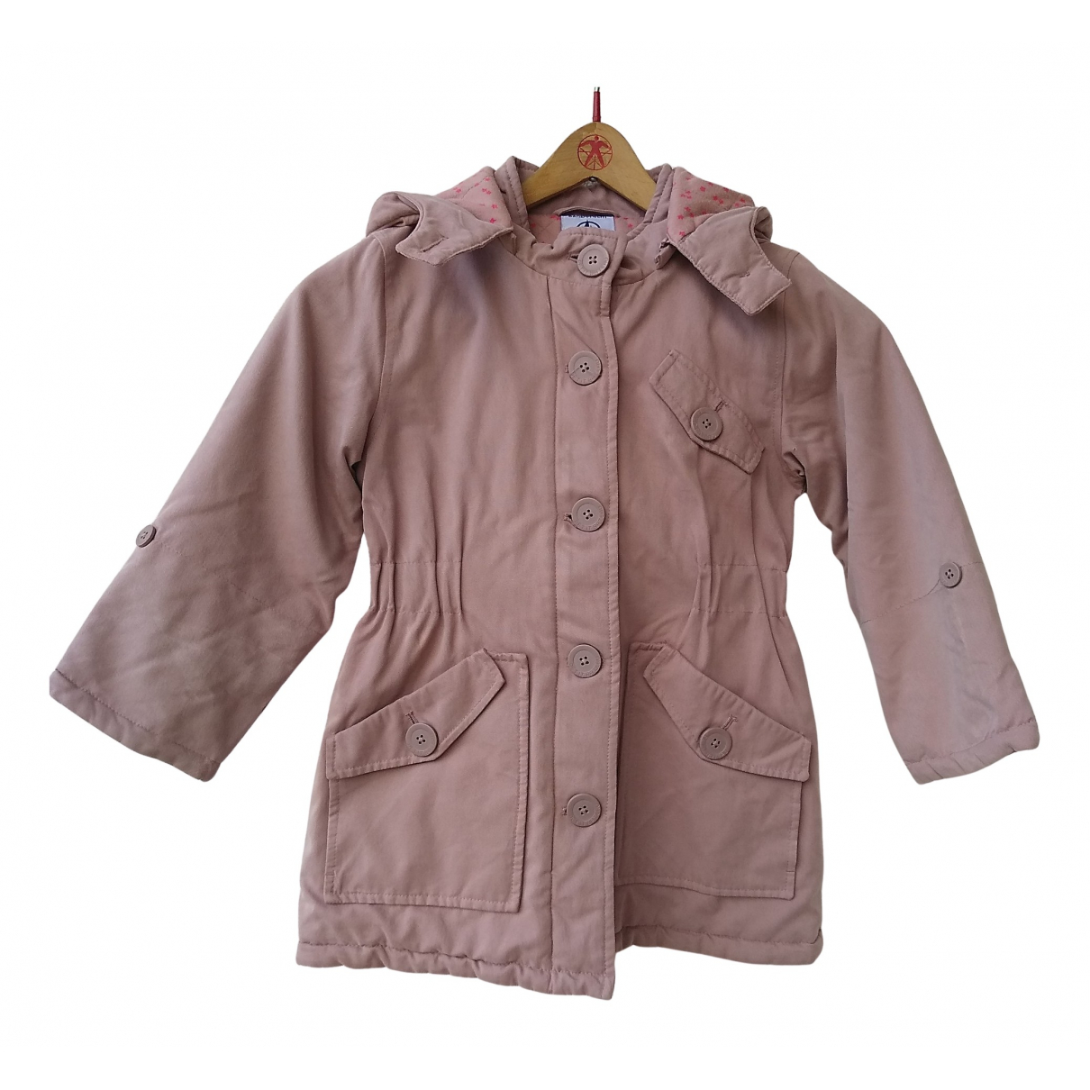 Petit Bateau N Pink Cotton jacket & coat for Kids 6 years - up to 114cm FR