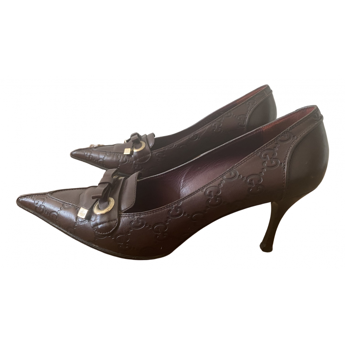 Gucci \N Burgundy Patent leather Heels for Women 9 US