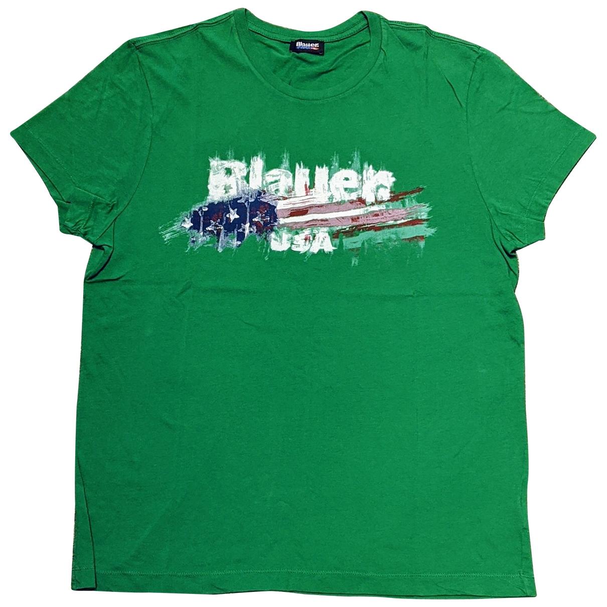 Blauer \N Green Cotton T-shirts for Men XL International