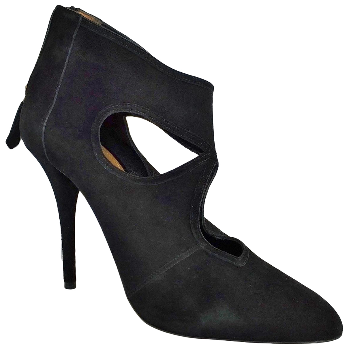 Aquazzura Sexy Thing Black Suede Ankle boots for Women 40 EU
