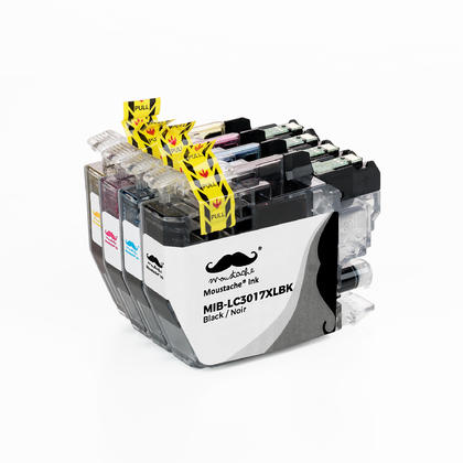 Compatible Brother LC3017 Ink Cartridge Combo BK/C/M/Y High Yield