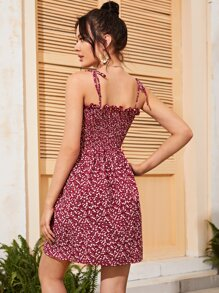 Ditsy Floral Shirred Bodice Cami Dress
