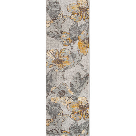 Momeni Luxe Flowers Rectangular Indoor Rugs, One Size , Gray