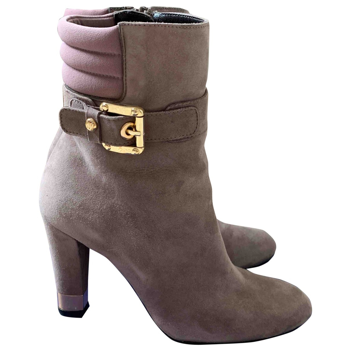Stuart Weitzman \N Suede Ankle boots for Women 37 IT