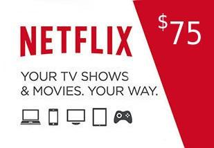 Netflix Gift Card $75 US