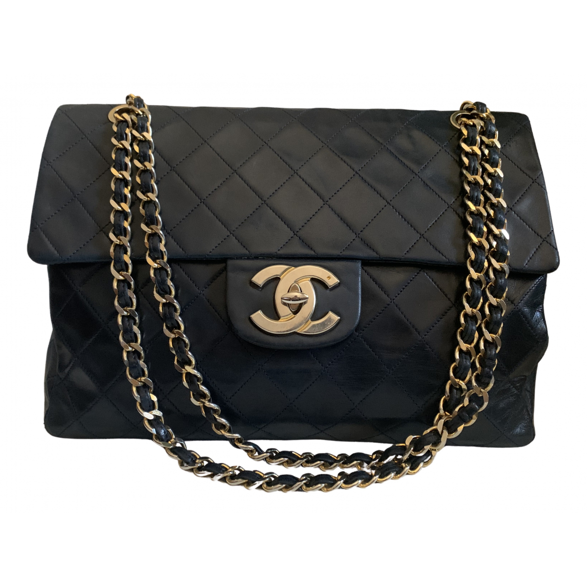 Chanel Timeless/Classique Blue Leather handbag for Women N