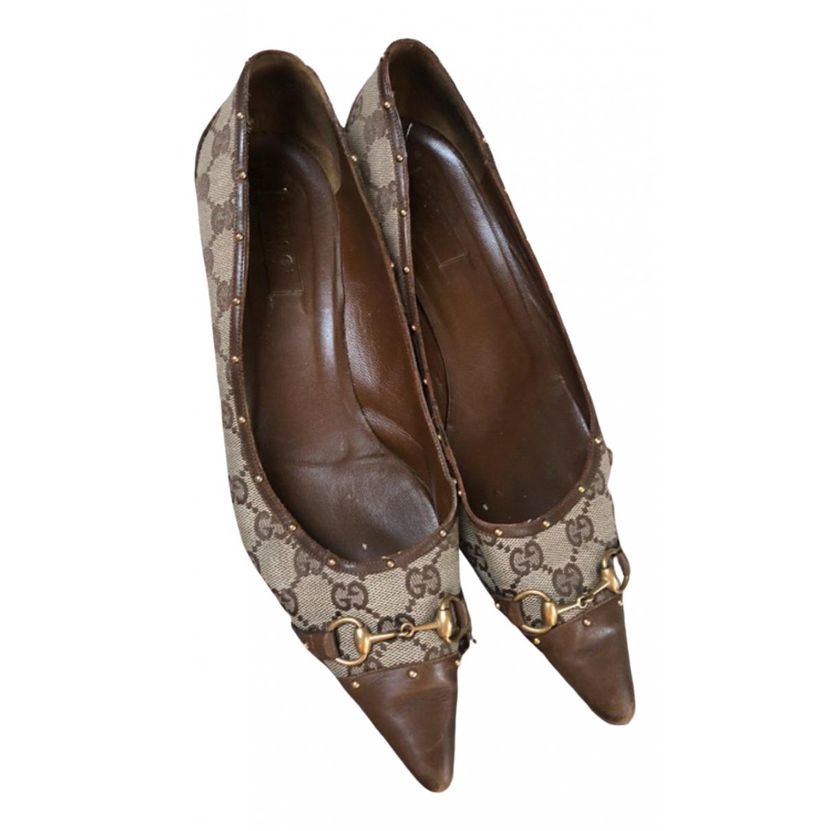 Gucci \N Brown Cloth Heels for Women 41 EU