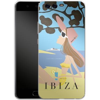 Huawei P10 Silikon Handyhuelle - IBIZA TRAVEL POSTER von IRMA