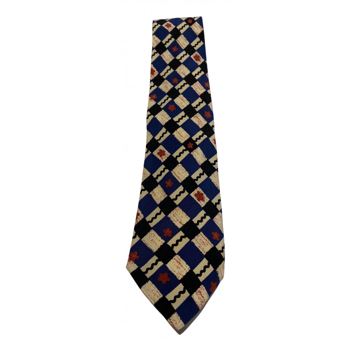 Yves Saint Laurent - Cravates   pour homme en soie - marine
