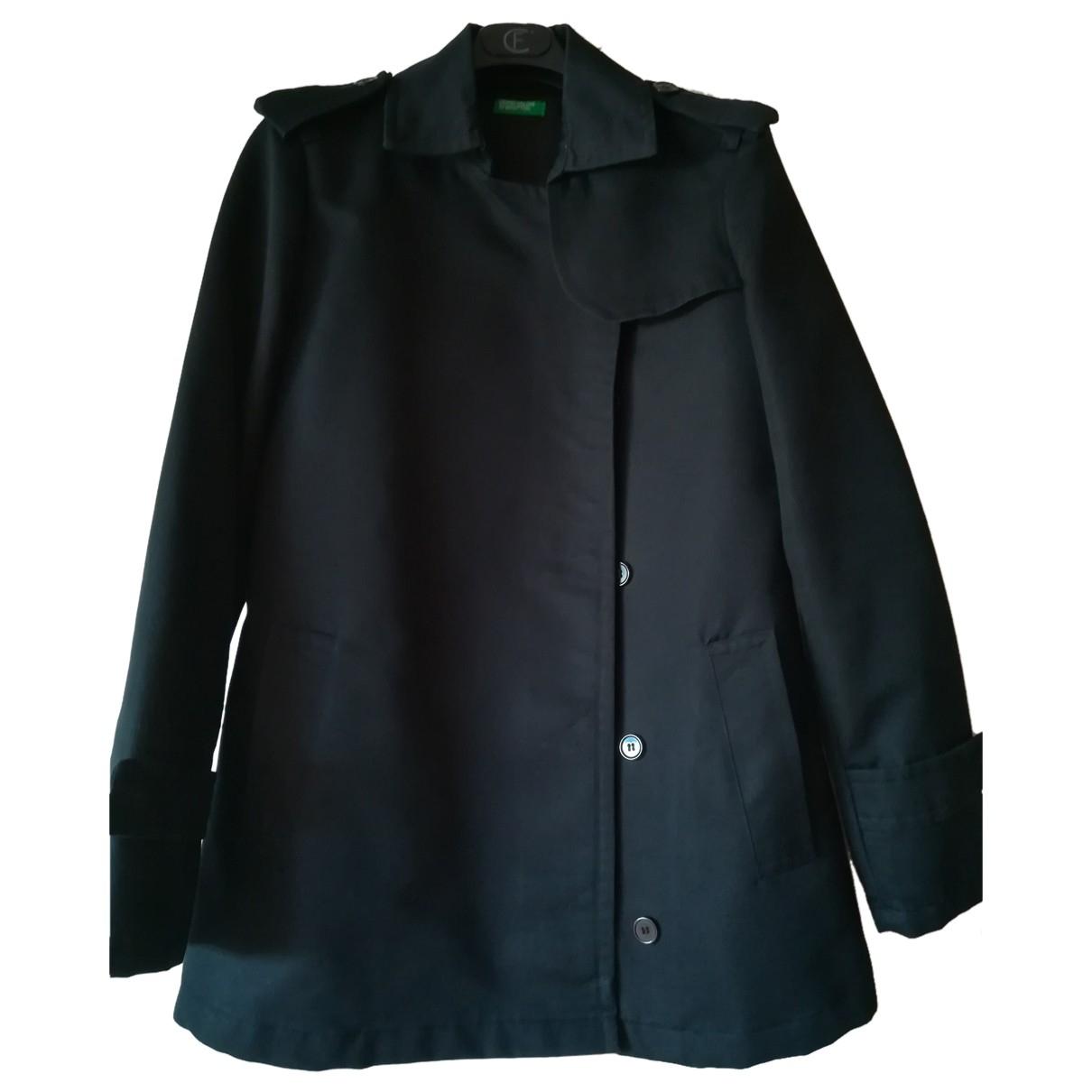 Benetton - Veste   pour femme en coton - noir