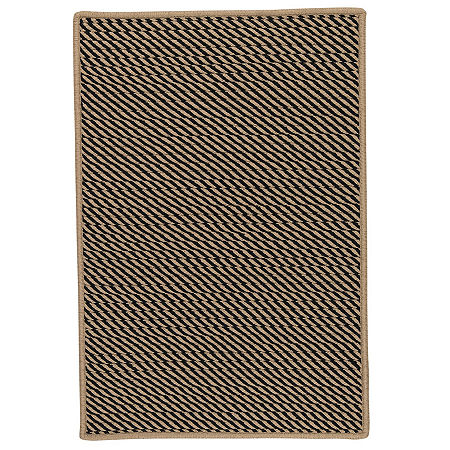 Colonial Mills Eden Textured Braided Rug, One Size , Black