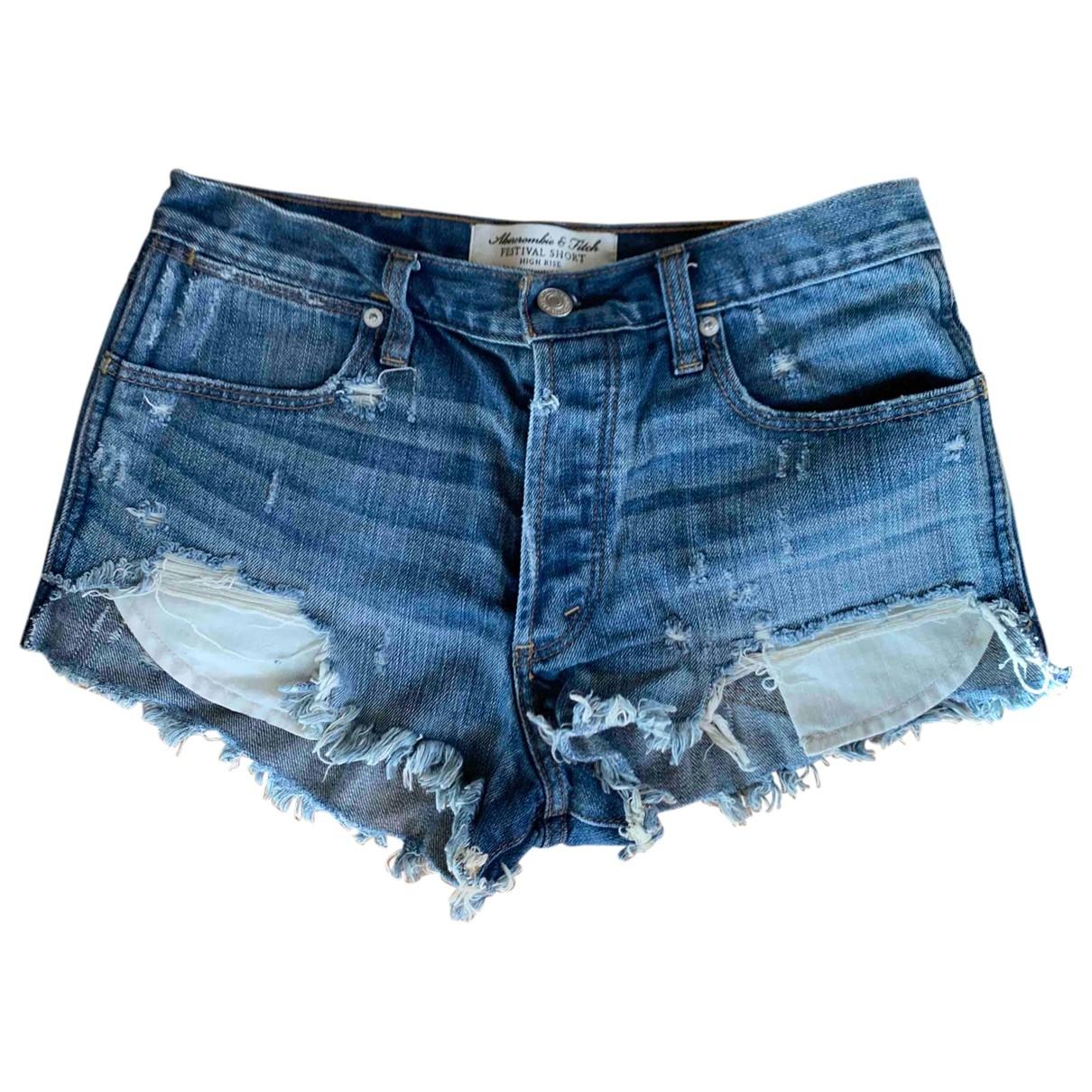 Abercrombie & Fitch \N Shorts in  Blau Denim - Jeans