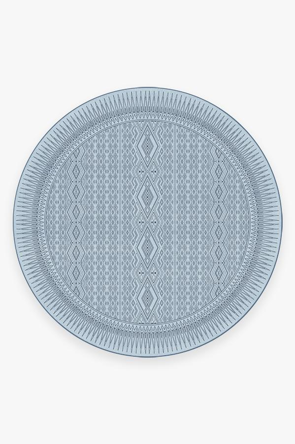Washable Rug Cover | Herdanza Blue Overdye Rug | Stain-Resistant | Ruggable | 8' Round