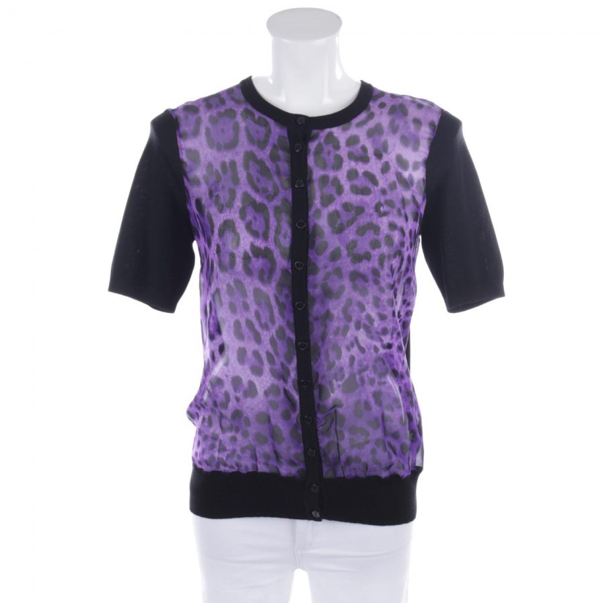 Dolce & Gabbana - Pull   pour femme en coton - violet