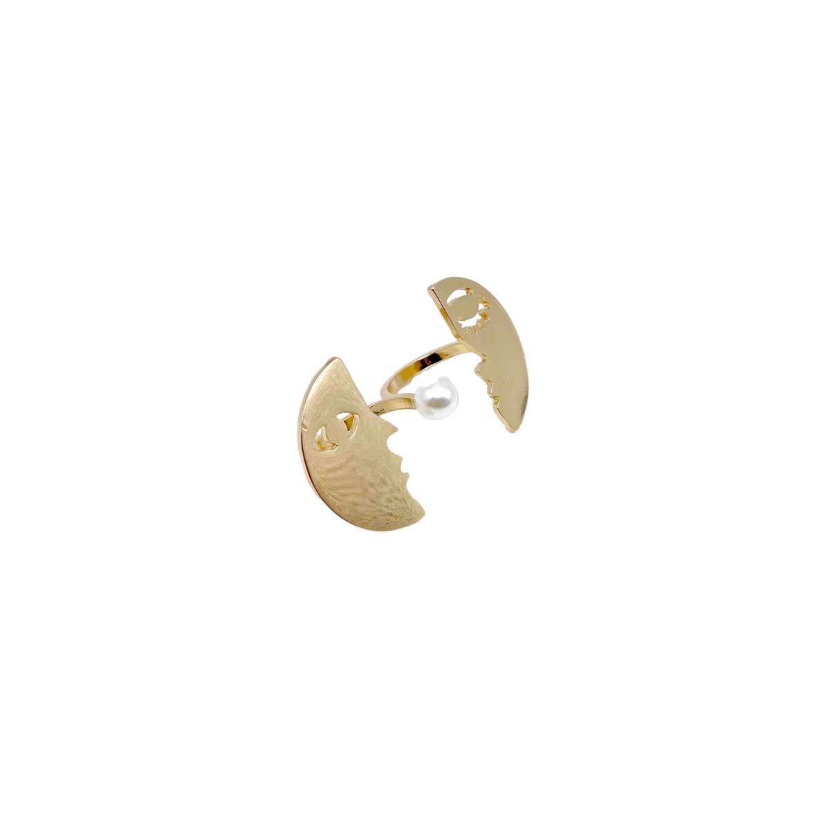 Non Signe / Unsigned Toi & Moi Ring in  Gold Metall