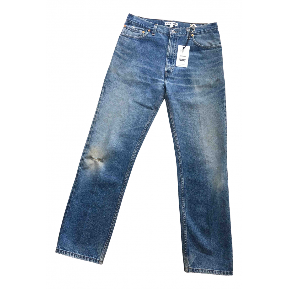 Re/done X Levi's \N Blue Cotton Jeans for Women 28 US