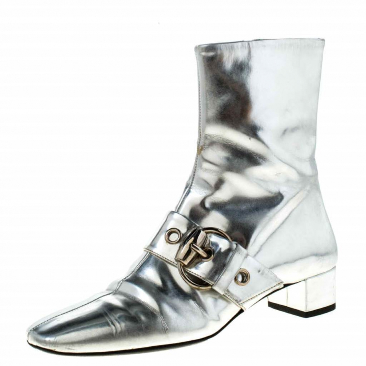 Gucci \N Silver Patent leather Ankle boots for Women 37 EU