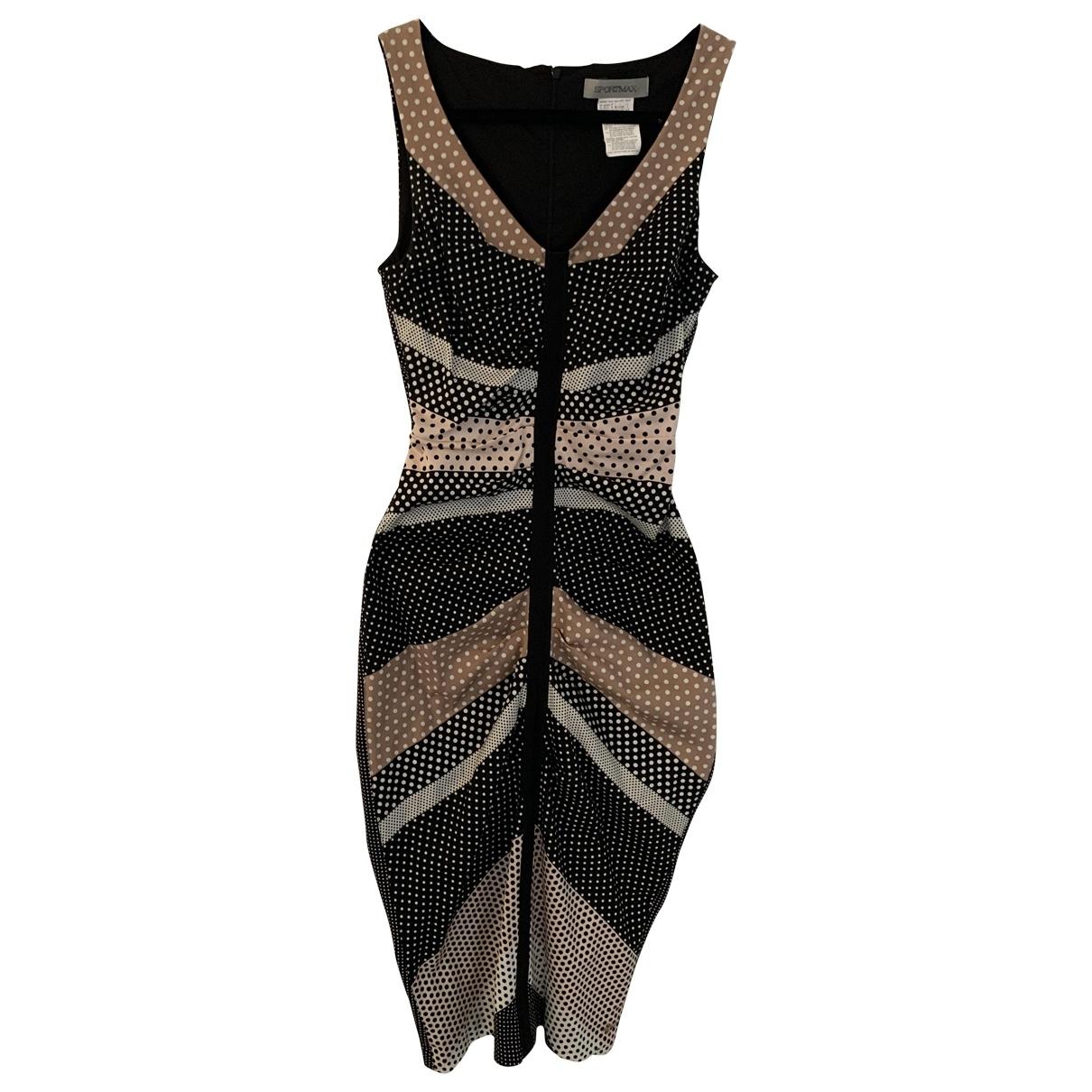 Sport Max - Robe   pour femme en coton - elasthane - multicolore