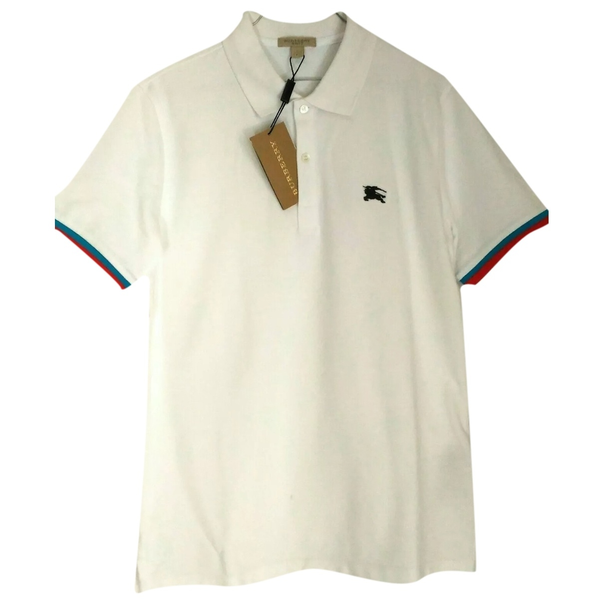Polo en Algodon Blanco Burberry