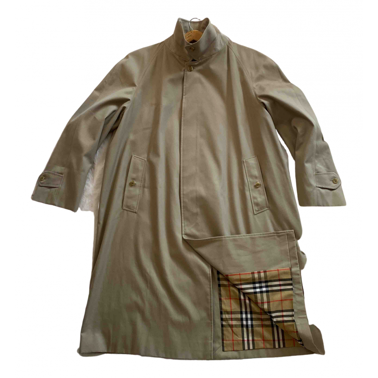 Burberry \N Maentel in  Beige Polyester