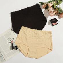 2pack Plus Floral Lace Panty Set