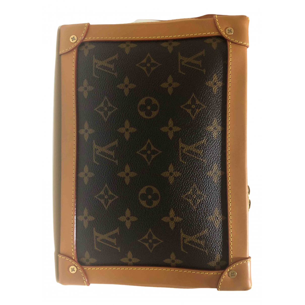 Louis Vuitton Soft trunk mini Brown Cloth bag for Men N