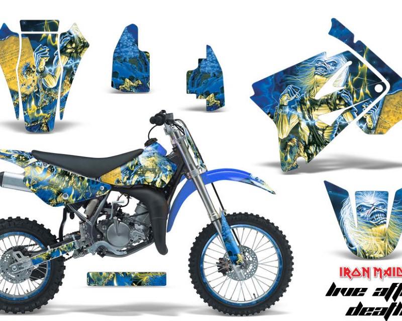 AMR Racing Graphics MX-NP-SUZ-RM85-02-16-IM LAD Kit Decal Sticker Wrap + # Plates For Suzuki RM85 2002-2016?IM LAD