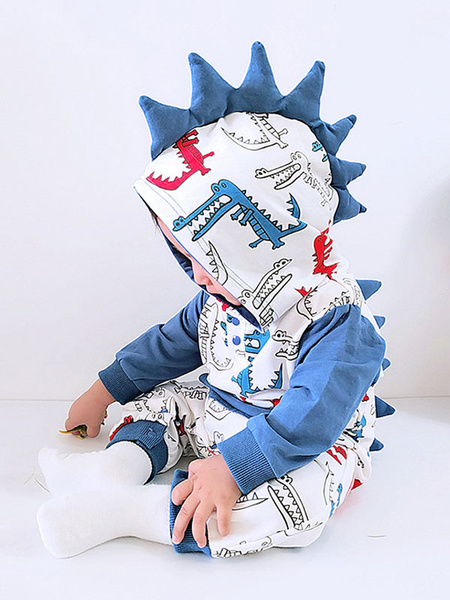 Milanoo Disfraz Halloween Mono de algodon Kigurumi Onesie Pijamas Dinosaur Toddler Cotton Carnaval Halloween